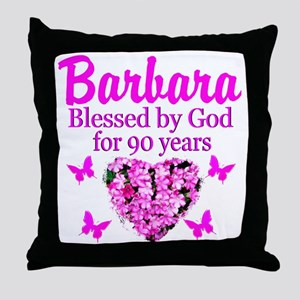 BLESSED 90TH Throw Pillow