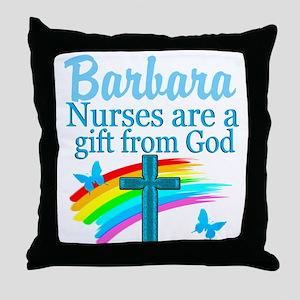 FAITH FILLED NURSE Throw Pillow