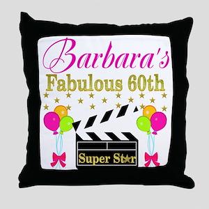 STYLISH 60TH Throw Pillow