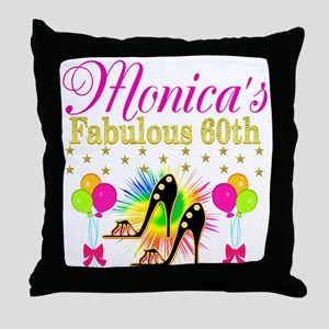 STYLISH 60TH Throw Pillow