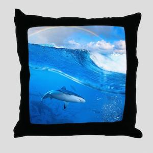 Underwater Shark Throw Pillow