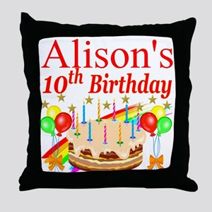 PERSONALIZED 10TH Throw Pillow
