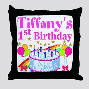 PERSONALIZED 1ST Throw Pillow