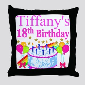 PERSONALIZED 18TH Throw Pillow