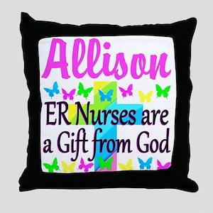 ER NURSE PRAYER Throw Pillow