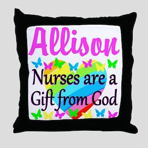 BLESSED NURSE Throw Pillow