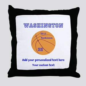 Basketball Personalized Throw Pillow