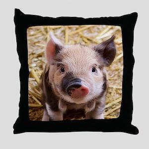 sweet piglet Throw Pillow