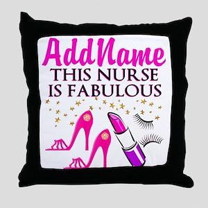 FABULOUS NURSE Throw Pillow