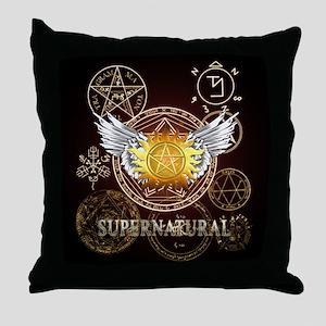 Supernatural Pentagrams Throw Pillow