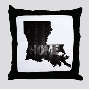 Louisiana Home Black and White Throw Pillow
