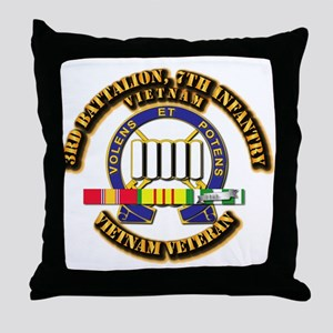 3rd Battalion, 7th Infantry Throw Pillow