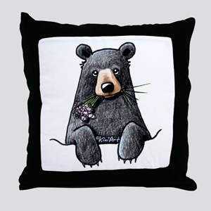 Pocket Black Bear Throw Pillow