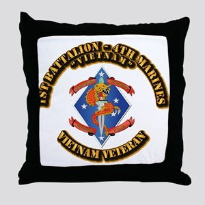 1st Bn - 4th Marines Throw Pillow