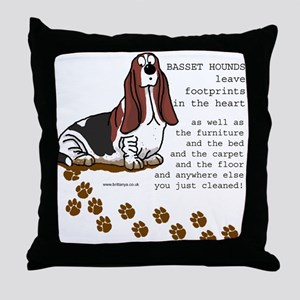 Basset's Throw Pillow