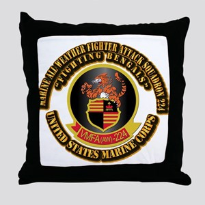 USMC - VMFA(AW) - 224 With Text Throw Pillow