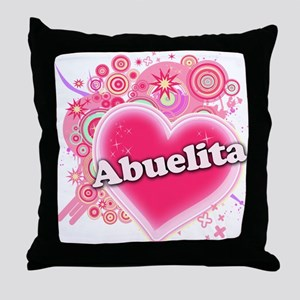 Abuelita Heart Art Throw Pillow