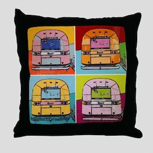 Airstream Pop Art painting Throw Pillow