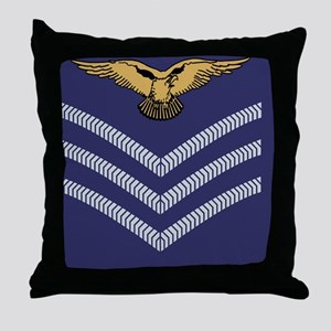 RAF-Sergeant-Aircrew-Tile Throw Pillow