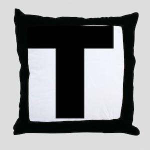 arial-black-black-t Throw Pillow