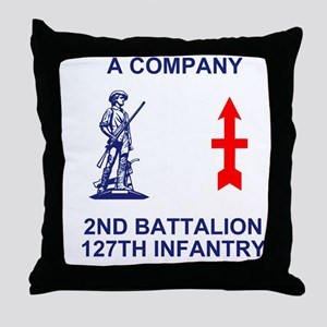 ARNG-127th-Infantry-A-Co-Shirt-4-Blue Throw Pillow