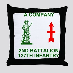 ARNG-127th-Infantry-A-Co-Shirt-4-Gree Throw Pillow