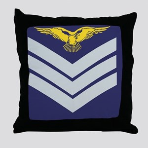 RAF-Sergeant-Aircrew-Tile-2 Throw Pillow