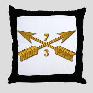 3rd Bn 7th SFG Branch wo Txt Throw Pillow