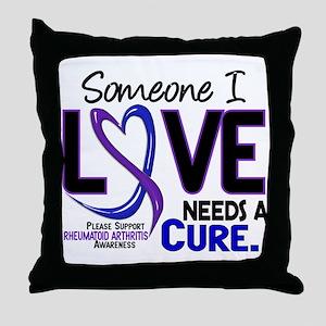 RA Needs a Cure 2 Throw Pillow