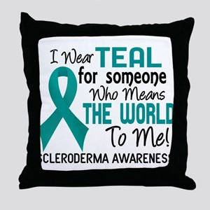 Scleroderma Means World To Me 2 Throw Pillow
