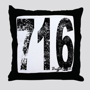 Buffalo Area Code 716 Throw Pillow