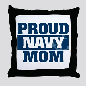 US Navy Proud Navy Mom Throw Pillow