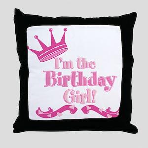 Birthday Girl 2 Throw Pillow
