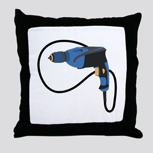 Electric Drill Throw Pillow