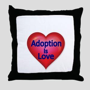 Adoption is love Throw Pillow