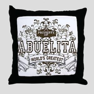 Property Of Abuelita Throw Pillow