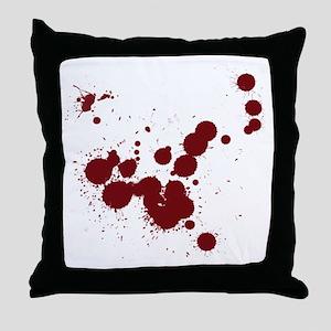 Bloody Throw Pillow