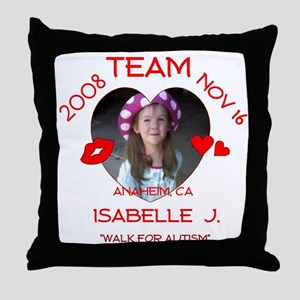 ISABELLE J Throw Pillow