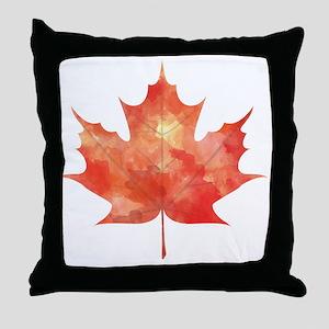 Maple Leaf Art Throw Pillow