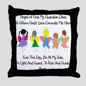 Childs Catholic Prayer Throw Pillow