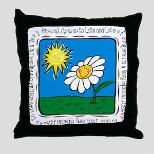 Answer To Prayer Throw Pillow