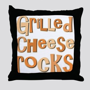 Grilled Cheese Rocks Lover Throw Pillow