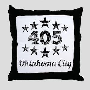 Vintage 405 Oklahoma City Throw Pillow