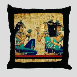 Egyptian Queens Throw Pillow