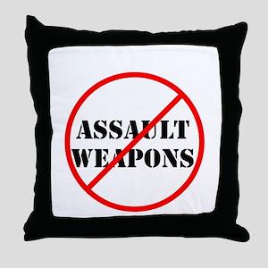 No assault weapons, gun control Throw Pillow
