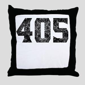 405 Oklahoma City Area Code Throw Pillow