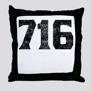 716 Buffalo Area Code Throw Pillow