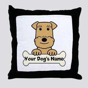Personalized Airedale Throw Pillow