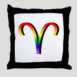GLBT Aries Throw Pillow