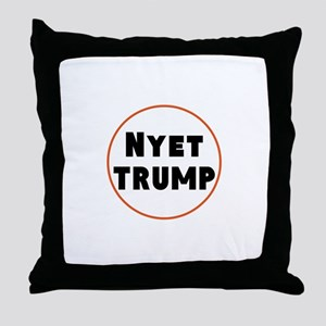 Nyet Trump, No Trump/Putin Throw Pillow